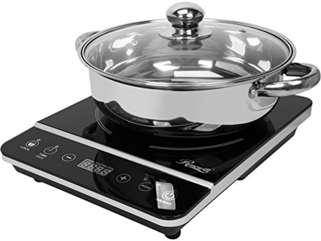 ROSEWILL RHAI-13001 1800W INDUCTION COOKER COOKTOP WITH STAINLESS STEEL POT