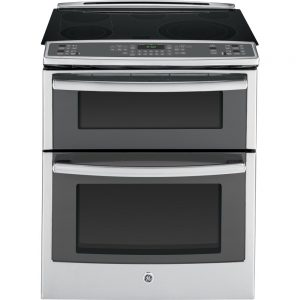 "GE PS950SFSS 30"" 6.6 cu. ft. Capacity Slide-In Double Oven Electric Range"