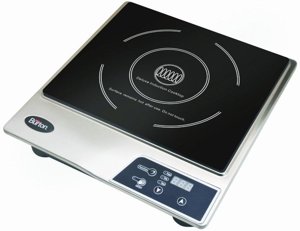 Max Burton 6200 Deluxe 1800-Watt Induction Cooktop, Black
