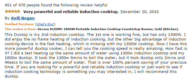 Secura 8100MC Induction cooktop Review | KA