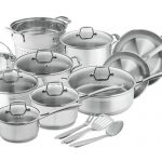 Chef's Star Stainless Steel 17 Piece Induction Cookware Set