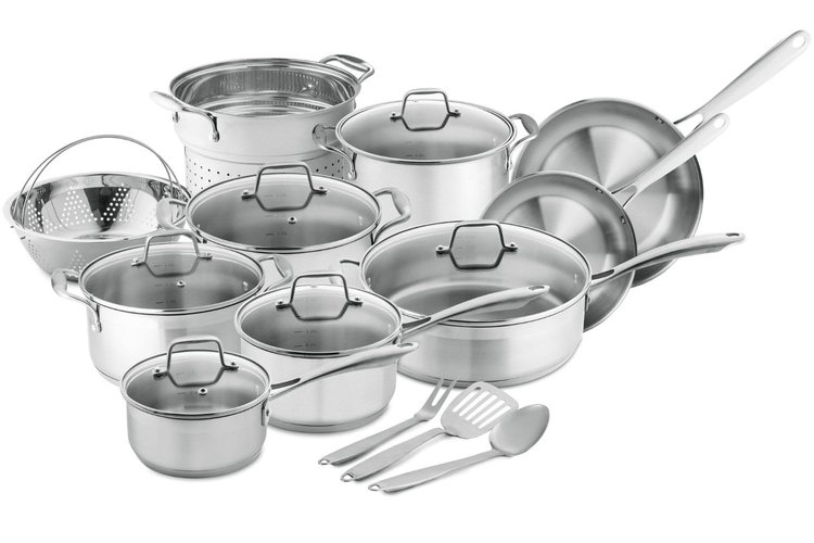 Chef's Star Professional Grade Stainless Steel 17 Piece Pots & Pans Set - Induction Ready Cookware Set