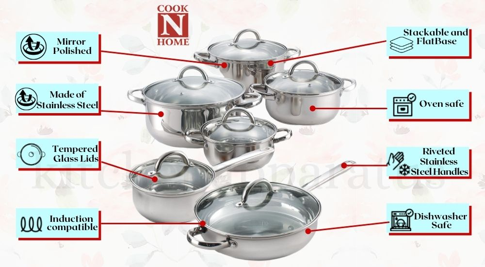 stainless steel induction cookware