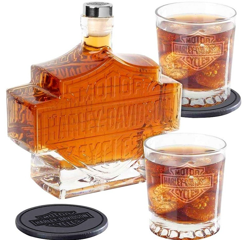 5-Pc. Harley-Davidson Bar and Shield Whiskey Decanter Set review