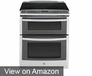 """GE PS950SFSS 30"""" Slide-In Double Oven Electric Range"""