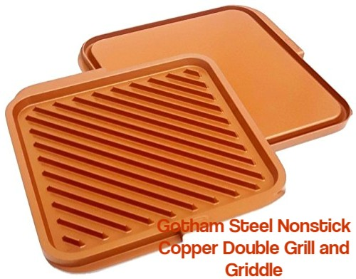 Gotham Steel Nonstick Copper Double Grill and Griddle
