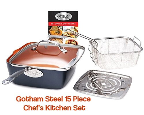 Gotham Steel Ultimate 15-Piece All-in-One Chef's Kitchen Set