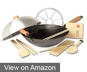 Joyce Chen 22-9938 Pro Chef 10-Piece Excalibur Nonstick Wok Set