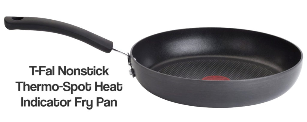 Thermo-Spot Heat Indicator Fry Pan, 8-Inch, Black