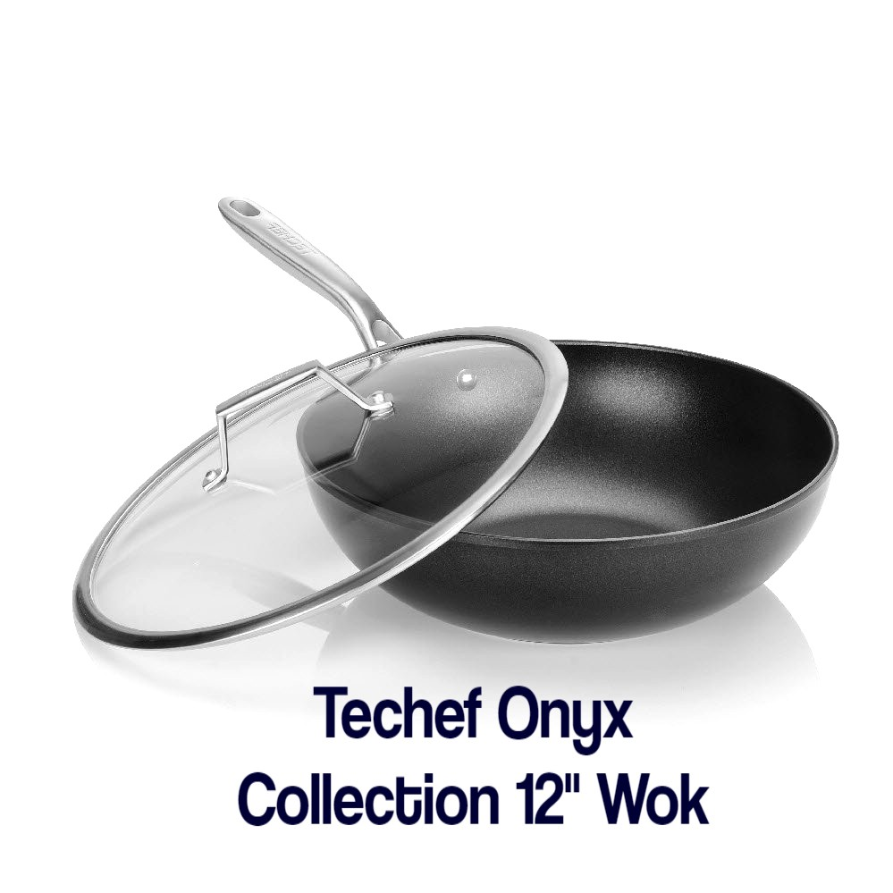 Techef Onyx Collection 12-Inch Wok