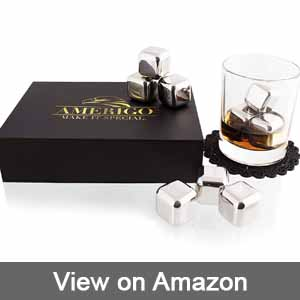 Amerigo Stainless Steel Whisky Stones Gift Set