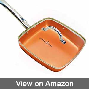 Copper Chef 9.5″ Square Fry Pan with Lid