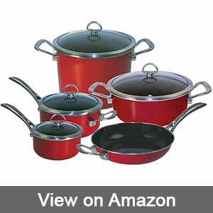 Chantal 9-Piece Copper Fusion Cookware Set
