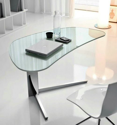triangle glass table top