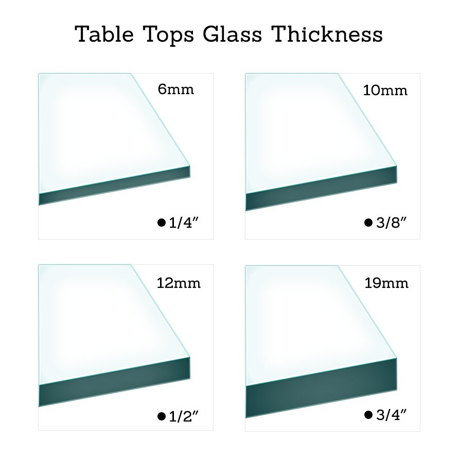 glass table top thickness