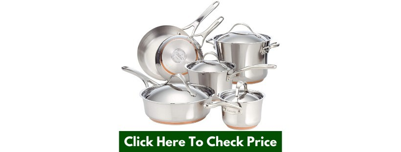 Anolon Nouvelle Stainless Steel Cookware Set- 10 Piece