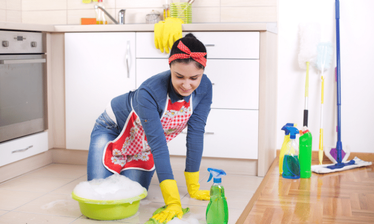 how to clean floor tiles naturally
