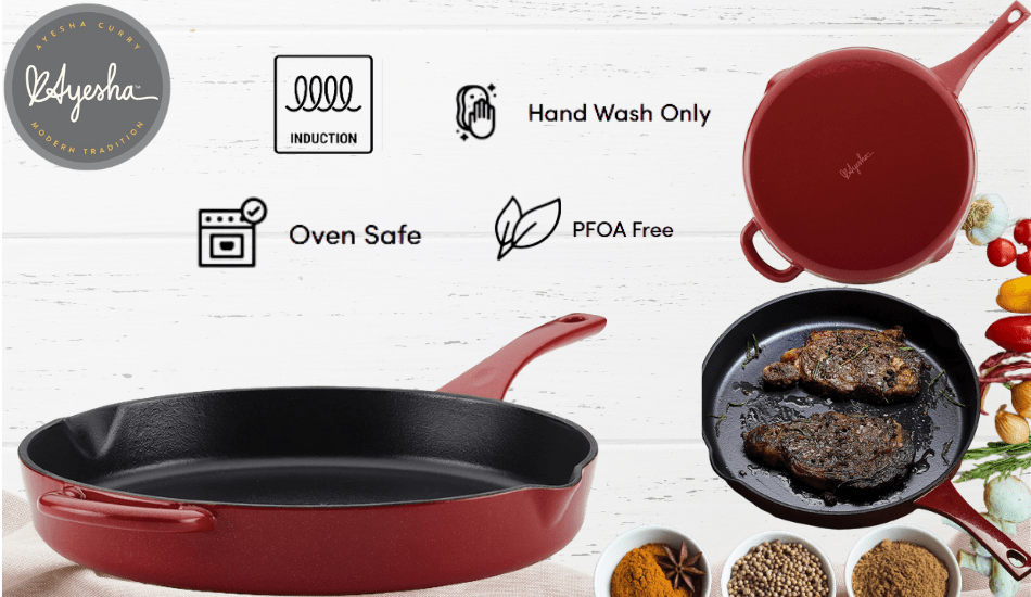 ayesha curry cast iron cookware