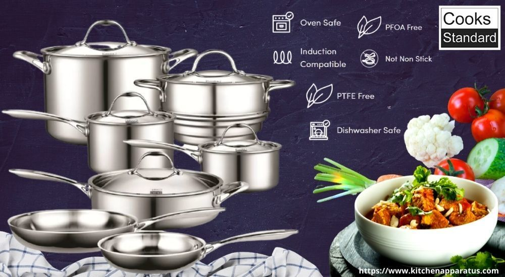 Cooks Standard Tri-Ply Clad Stainless Steel