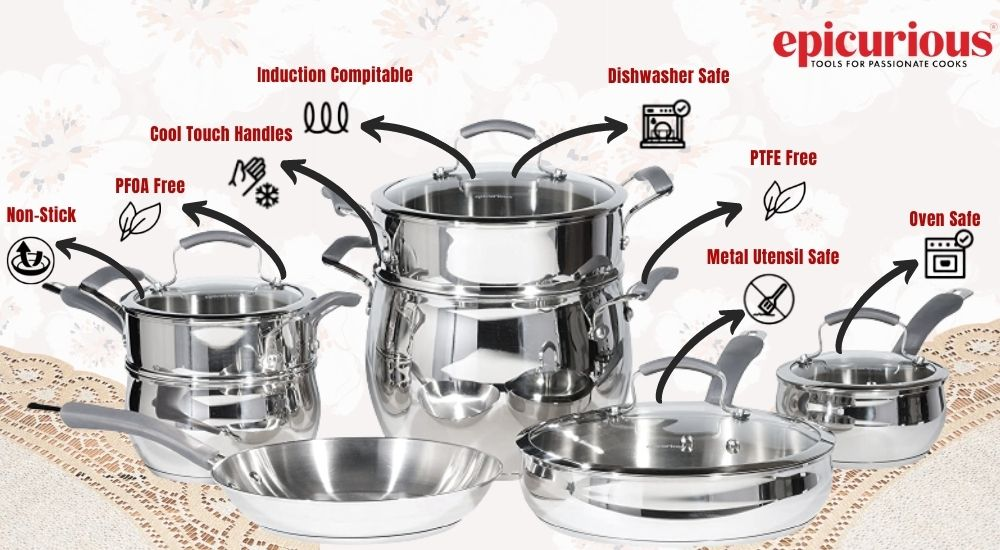 epicurious stainless steel cookware