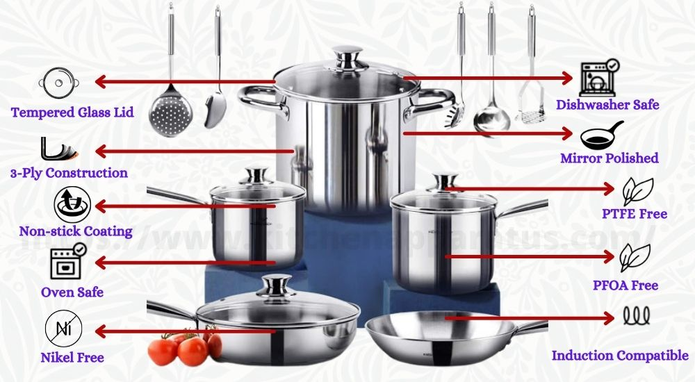 nickel free stainless steel cookware