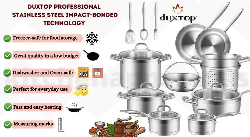 duxtop stainless steel cookware