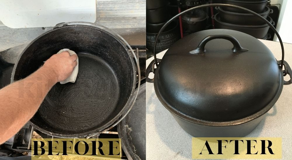 how to clean cast iron dutch oven