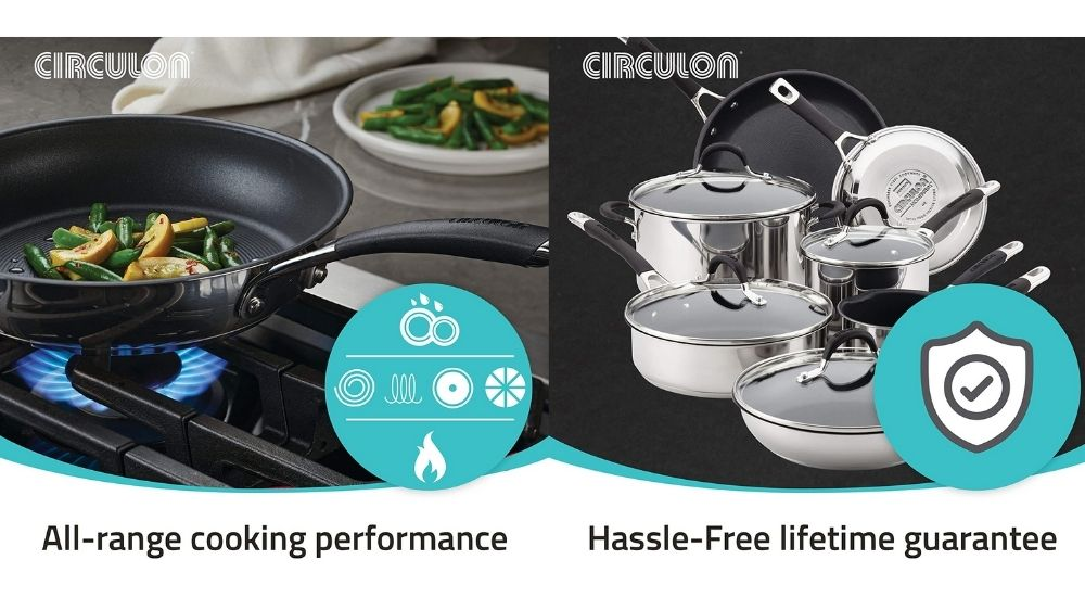 circulon stainless steel cookware