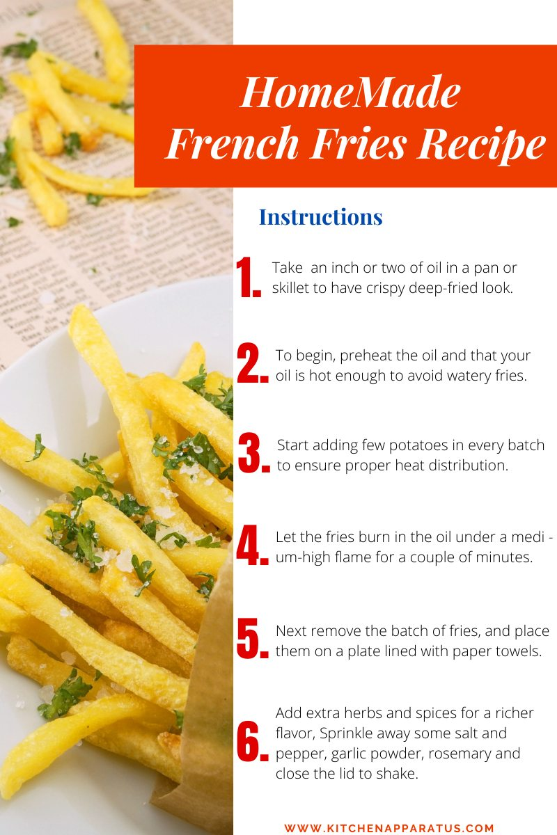 HomeMade French Fries Recipe instructions